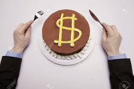 dollars gateau